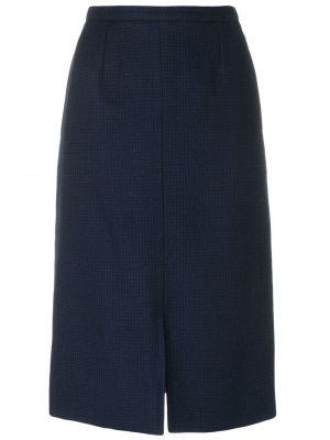 Синяя классическая юбка карандаш с рукавом 3/4 Guy Laroche Pre-owned