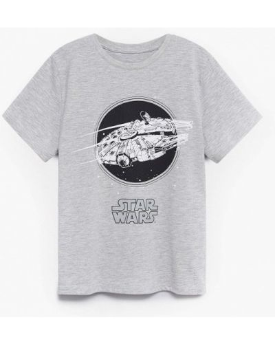 Серая футболка с короткими рукавами Mango Kids