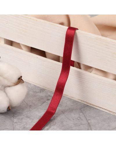 Красная резинка для волос на резинке латексная арт узор