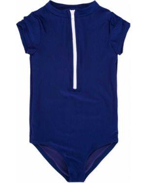 Niebieski strój kąpielowy krótki rękaw Duskii Girl