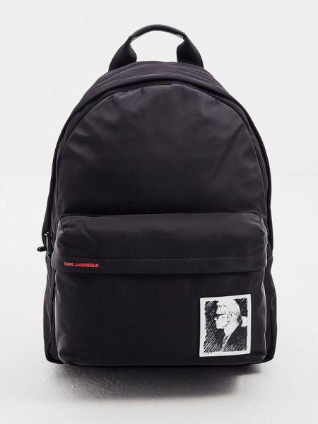 Рюкзак нейлоновый черный Karl Lagerfeld