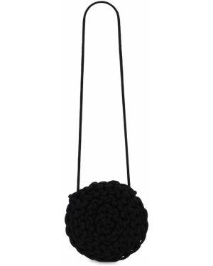 Czarna torebka crossbody bawełniana Alienina