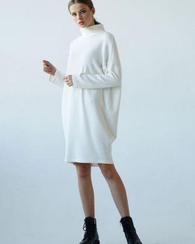 Трикотажное нарядное белое платье Vovk