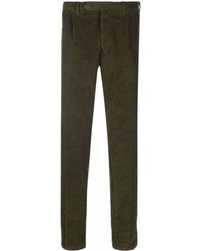 Zielone spodnie bawełniane Lardini