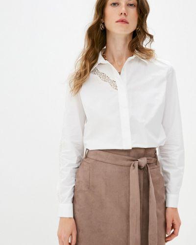 Белая блузка с длинным рукавом с длинными рукавами Lusio