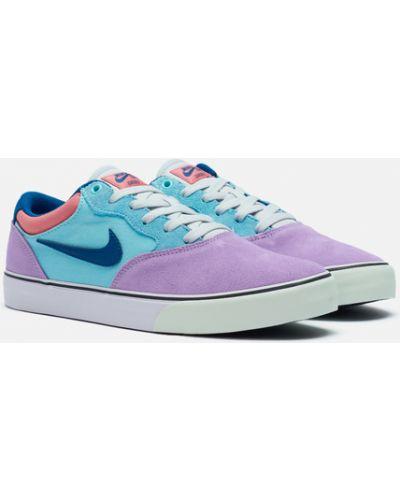 Фиолетовые резиновые кроссовки Nike Sb