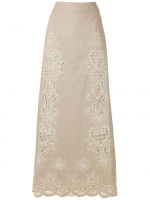 С завышенной талией юбка макси из вискозы на молнии Martha Medeiros