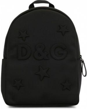 Рюкзак черный с логотипом Dolce & Gabbana Kids
