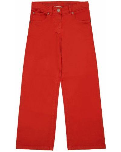 Оранжевые хлопковые джинсы на молнии Stella Mccartney Kids