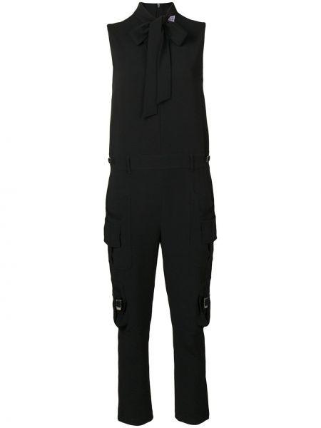Черный комбинезон с карманами без рукавов Redvalentino