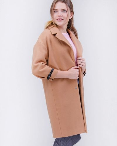 Коричневое пальто осеннее Olko