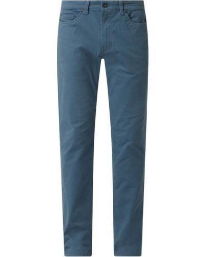 Niebieskie spodnie bawełniane Montego