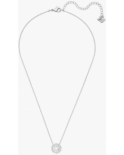 Колье серебряного цвета Swarovski