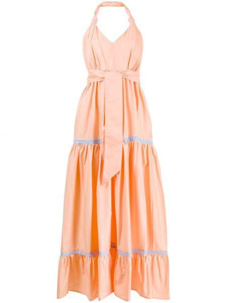 Платье макси с V-образным вырезом с поясом Alessia Santi