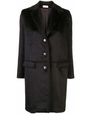 Черное однобортное приталенное пальто Beau Souci