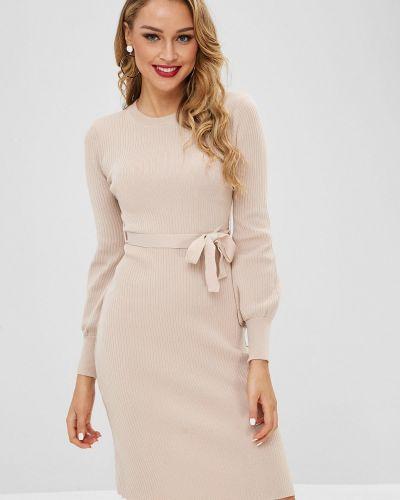 Платье с поясом персиковое платье-свитер Zaful