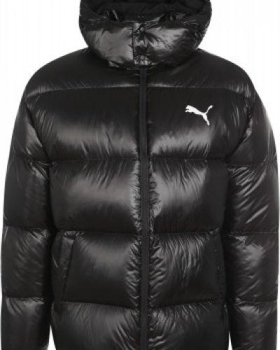 Черная пуховая куртка на молнии Puma