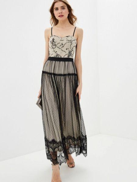 Вечернее платье бежевое весеннее Rinascimento