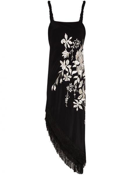 Летнее платье миди с бахромой Johanna Ortiz