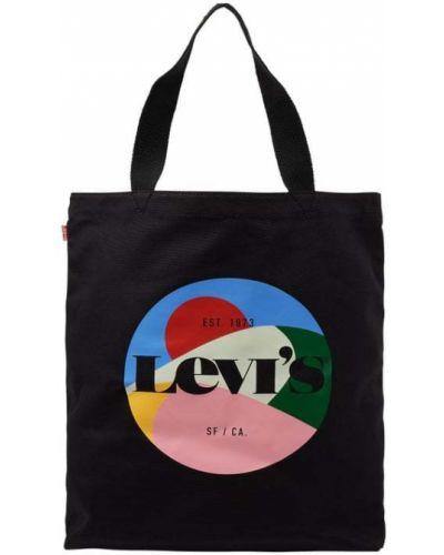 Czarna torebka bawełniana Levi's