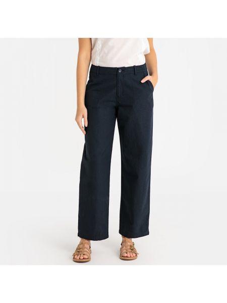 Хлопковые темно-синие свободные брюки с карманами свободного кроя Harris Wilson