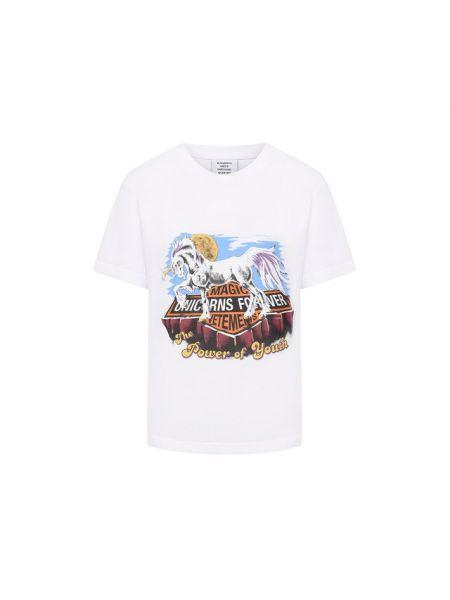Французская хлопковая белая футболка Vetements