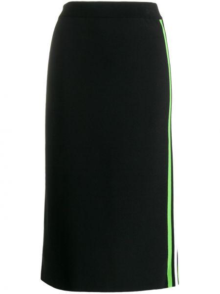 Черная юбка узкого кроя из вискозы Mrz