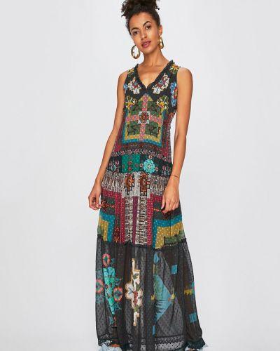 Платье макси из вискозы прямое Desigual