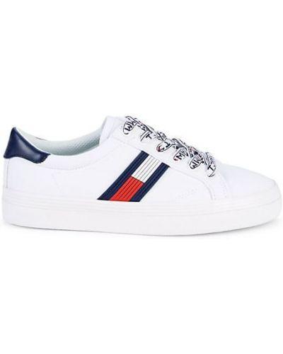 Белые кроссовки на платформе на шнурках Tommy Hilfiger
