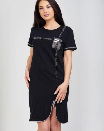 Черное платье весеннее Olko