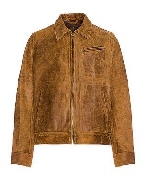 Замшевая кожаная куртка - коричневая Schott