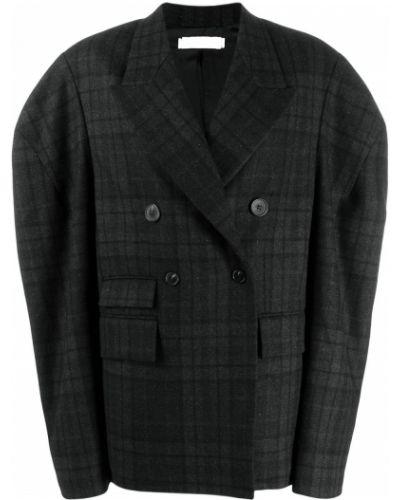 Прямое коралловое шерстяное длинное пальто Litkovskaya