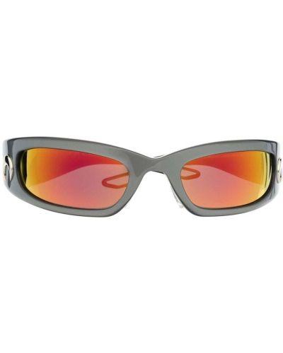 Оранжевые солнцезащитные очки квадратные Marine Serre