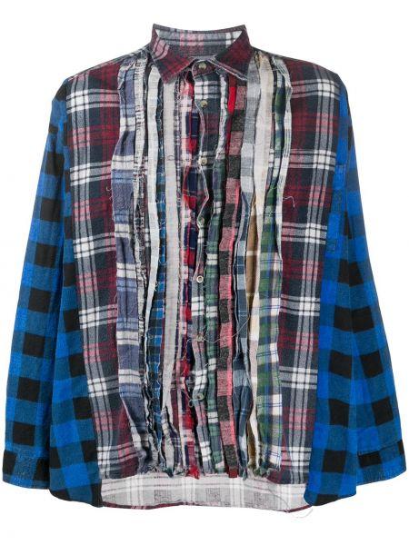 Koszula z długim rękawem klasyczna niebieski Needles
