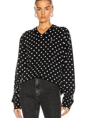 Czarny sweter wełniany z printem Comme Des Garcons Play