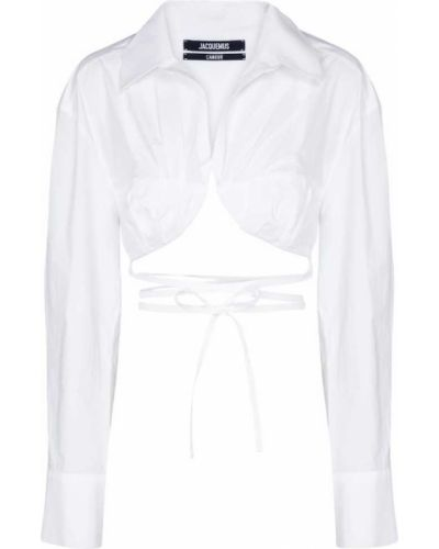 Klasyczna biała klasyczna koszula bawełniana Jacquemus