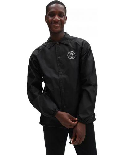 Черная куртка с логотипом Vans