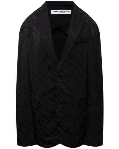 Черный французский пиджак Balenciaga