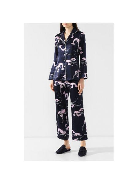 Пижама на пуговицах шелковая Olivia Von Halle