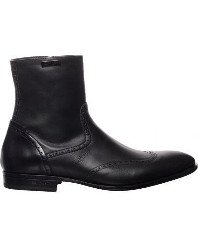 Кожаные ботинки осенние черные Calvin Klein Collection