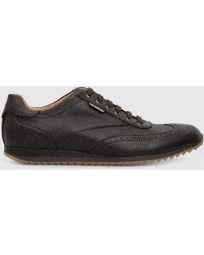 Кожаные кроссовки - коричневые Castello D'oro