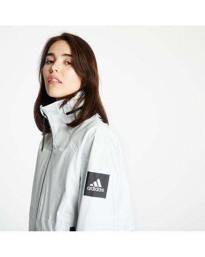 Брендовая белая парка Adidas Originals