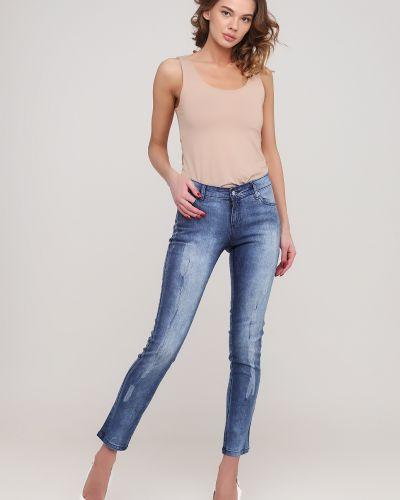 Синие джинсы с карманами Casual