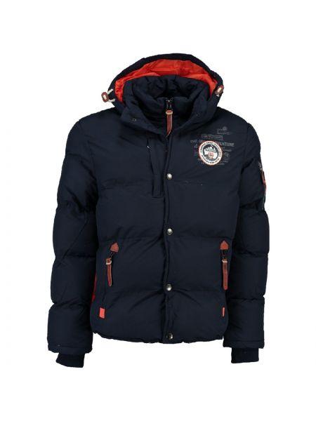 Стеганая черная стеганая куртка в морском стиле Geographical Norway
