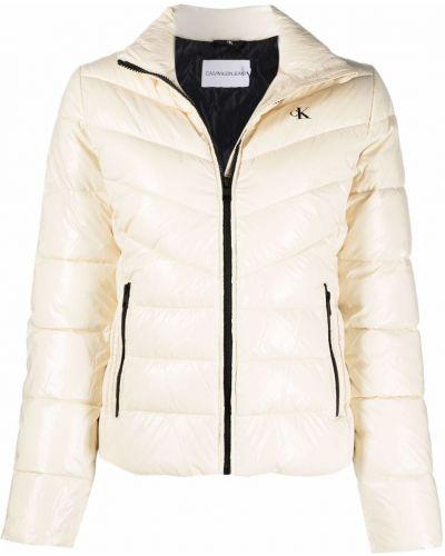 Джинсовая куртка длинная - белая Calvin Klein Jeans