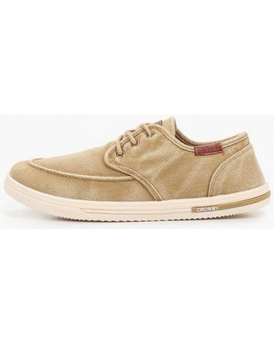 Текстильные бежевые ботинки Crosby