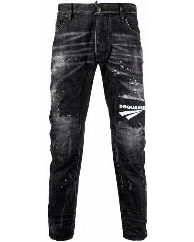 Czarne mom jeans Dsquared2