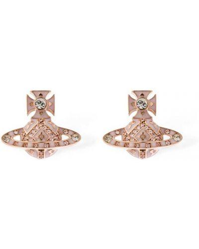 Różowe złote kolczyki Vivienne Westwood