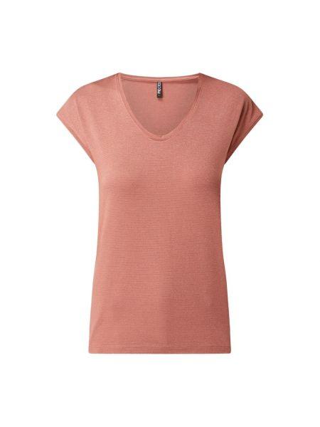 Różowa bluzka z wiskozy z dekoltem w serek Pieces