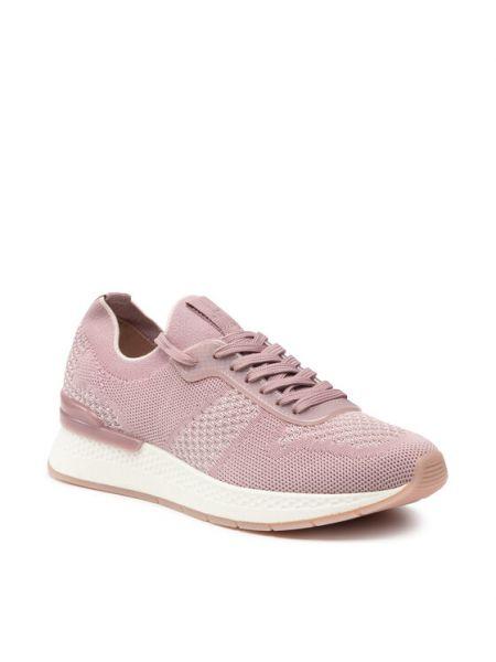 Różowe sneakersy Tamaris